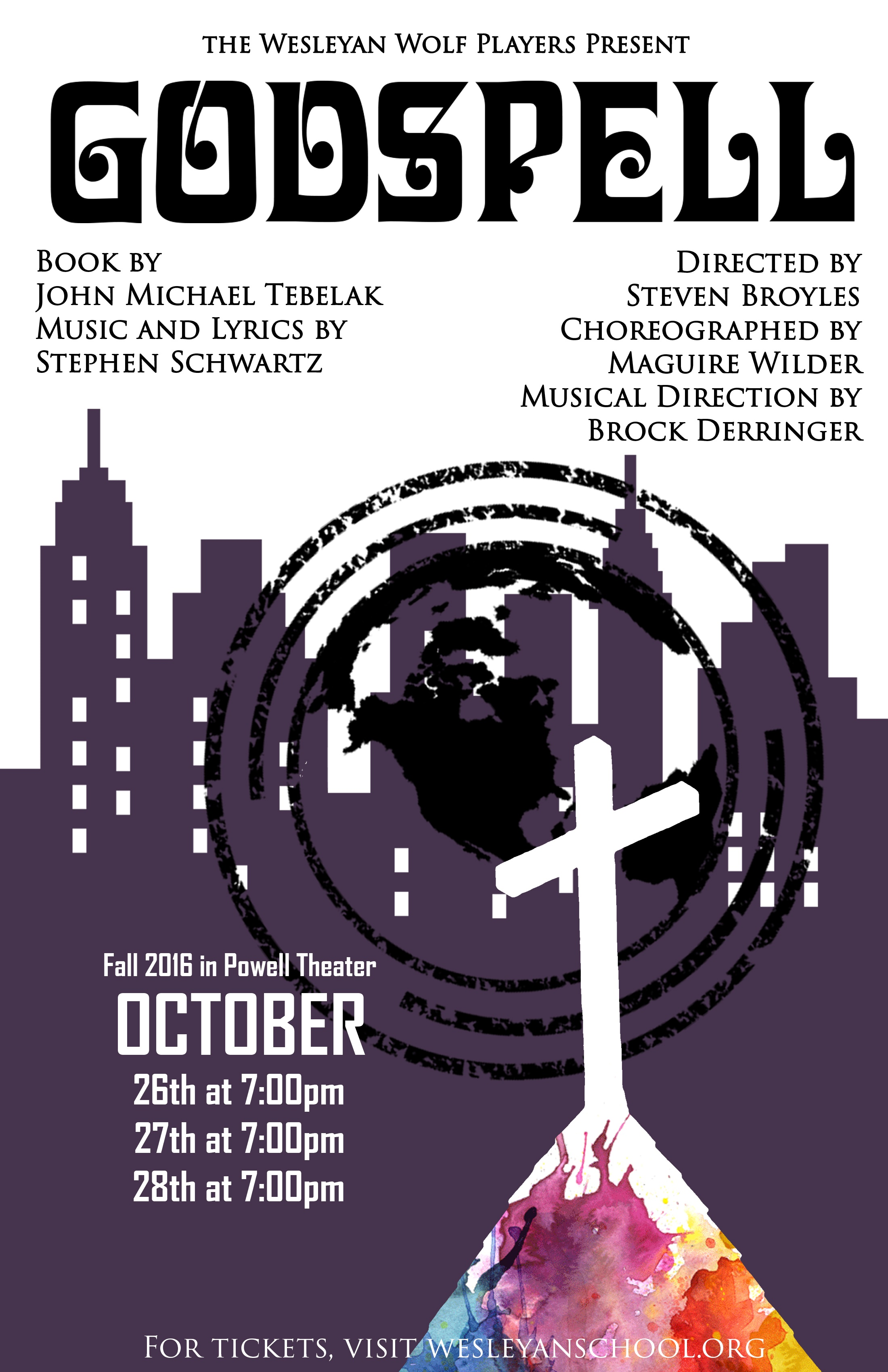 a critique of godspell a play by john michael tebelak and stephen schwartz Not much music but scripture, and david haskell (in the john the baptist role) is seen first, as the people gather amid manhattan scenery, opening godspell , 1973, from the musical by stephen schwartz and john-michael tebelak.