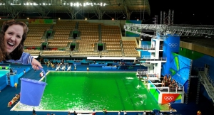 Cameron Alexander turns Rio's pool green