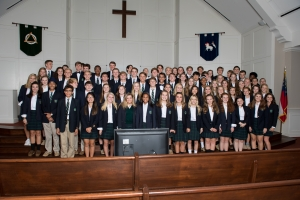 The newest members of the National Honor Society and the academic societies from the Wesleyan junior and senior class. Brianography