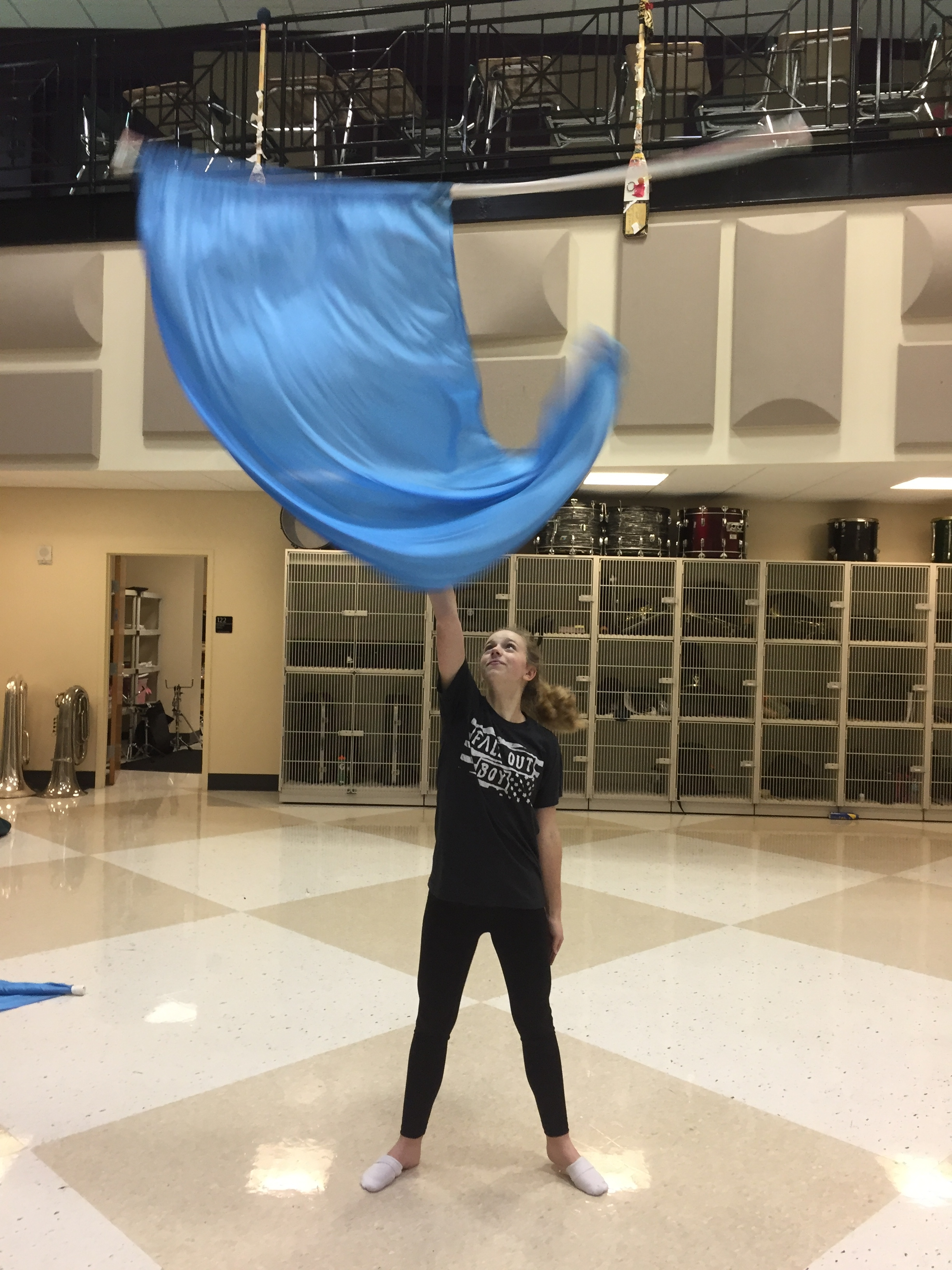 Color Guard Transitions To Winter Guard Green And Gold