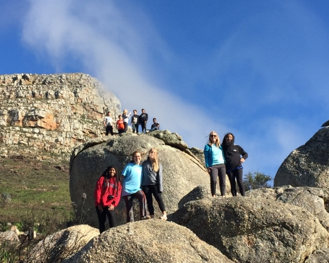 Some of the members of the South Africa Team hiking in South Africa. Greg Lisson